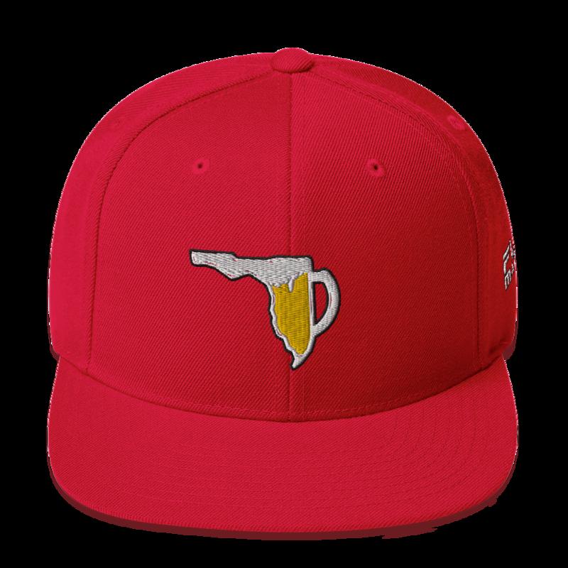 FLORIDA BEER CHUG Snapback Hat by FLOMAZIN