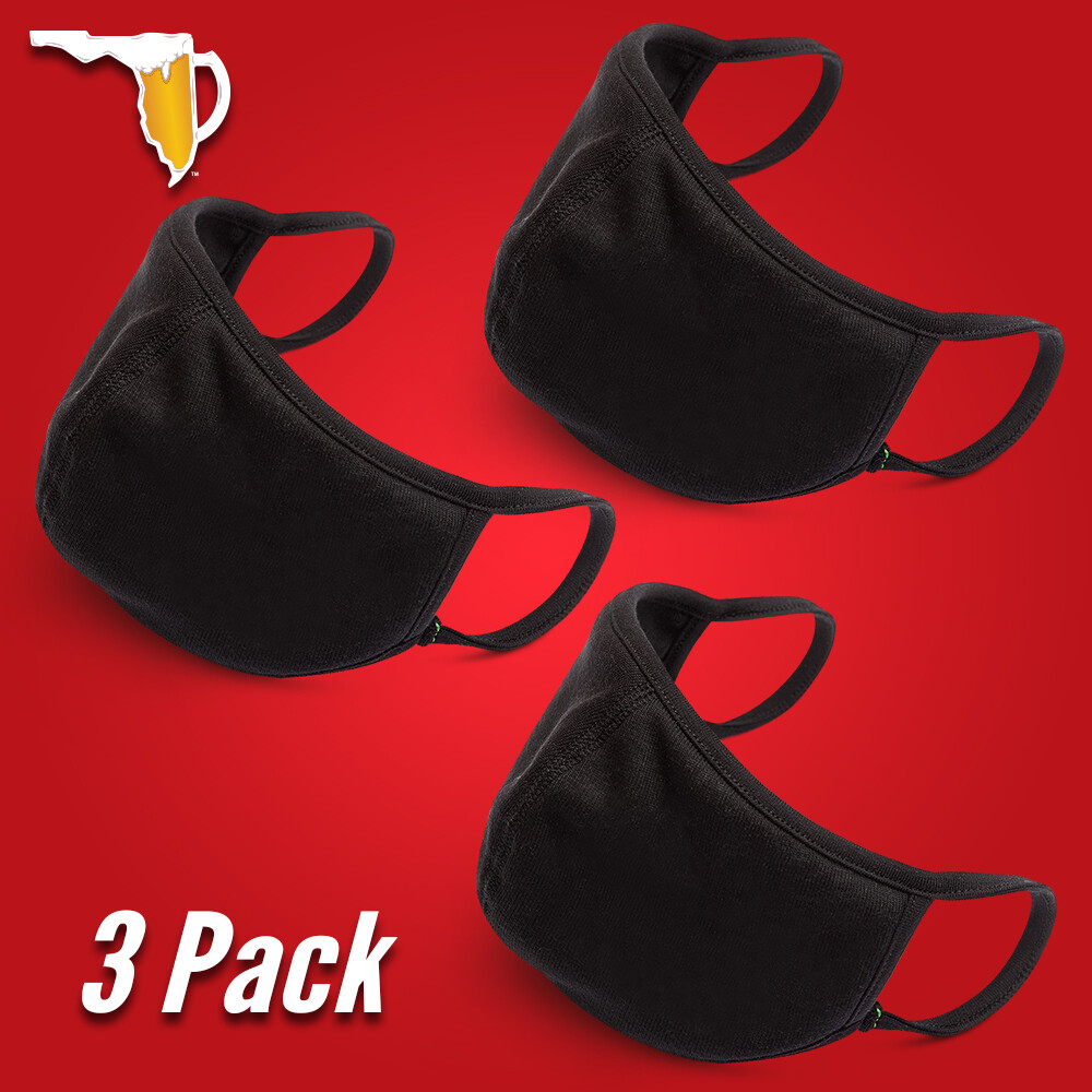 FLORIDA BEER CHUG Silverplus® Technology Face Mask (3-Pack) by FLOMAZIN