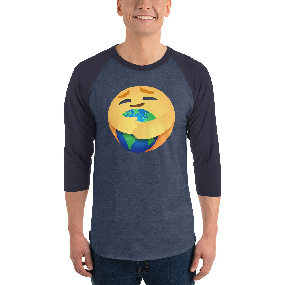 EARTH CARE EMOJI by FLOMAZIN 3/4 sleeve raglan shirt