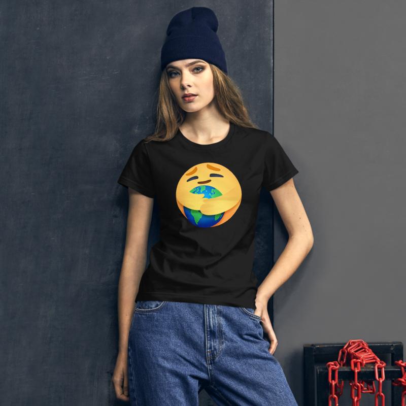 EARTH CARE EMOJI by FLOMAZIN Women's short sleeve t-shirt