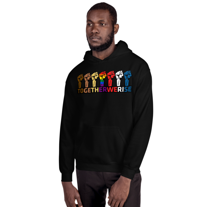 TOGETHER WE RISE Unisex Hoodie by FLOMAZIN