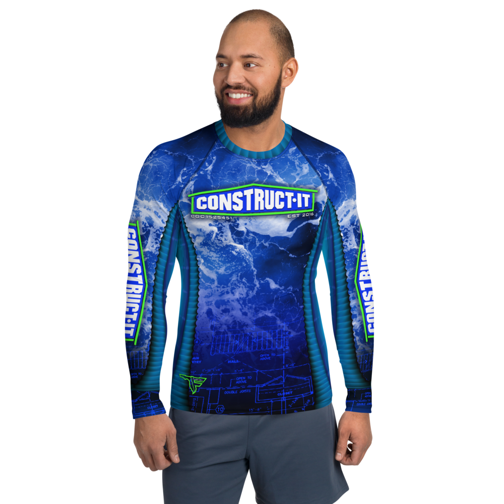 CONSTRUCT-IT Men's Long Sleeve Custom Rash Guard Shirt
