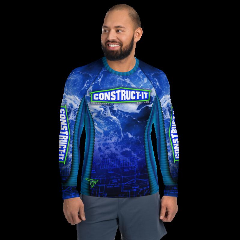 CONSTRUCT-IT Men's Long Sleeve Custom Rash Guard Shirt