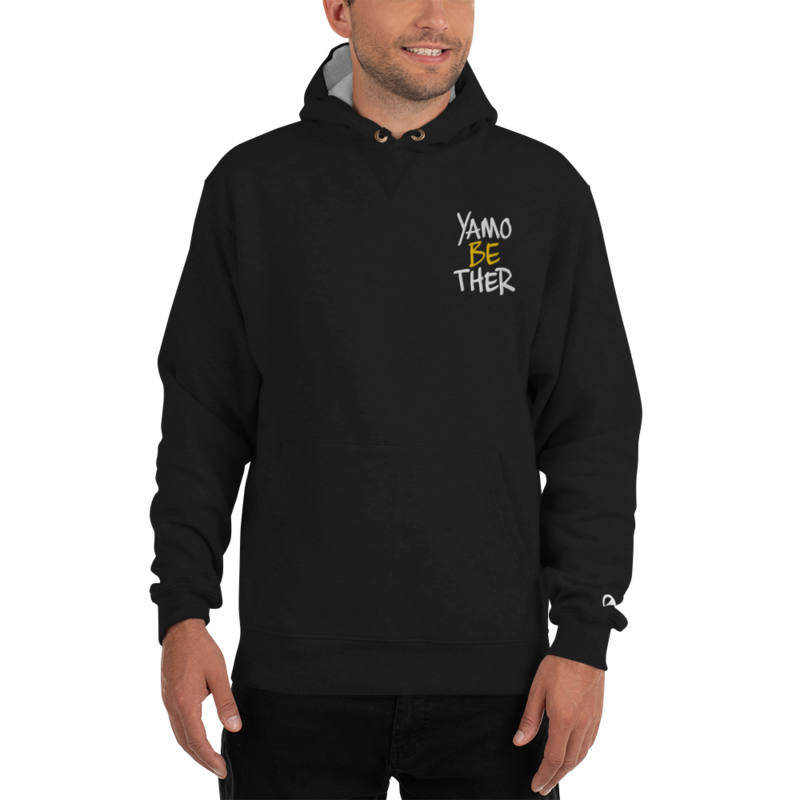 CHEZ QUAN'S YAMOBETHER Embroidered Champion Hoodie