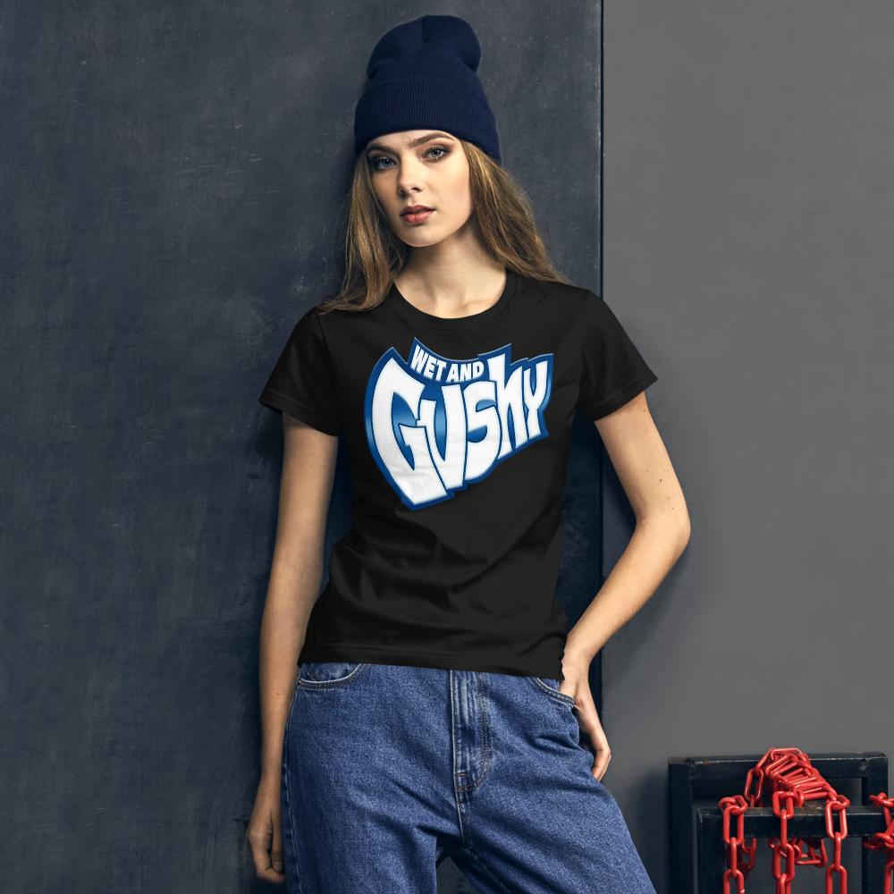 WET AND GUSHY WAP CARDI B SONG LYRIC Women's short sleeve t-shirt