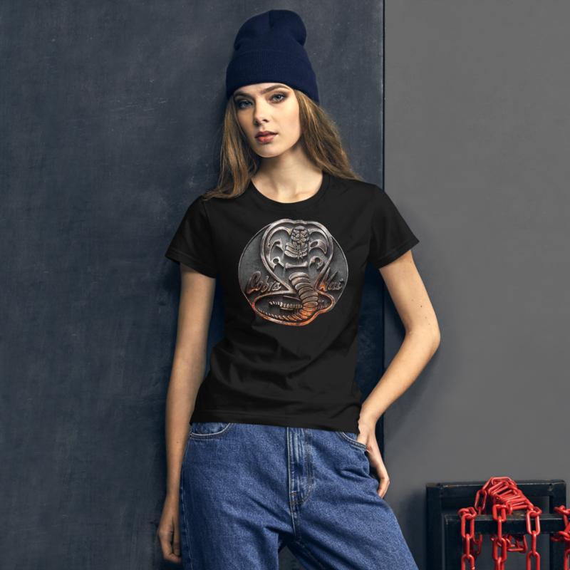 COBRA KAI DOJO NEW LOGO from the COBRA KAI KARATE KID Netflix TV Movie Show Series Women's short sleeve t-shirt