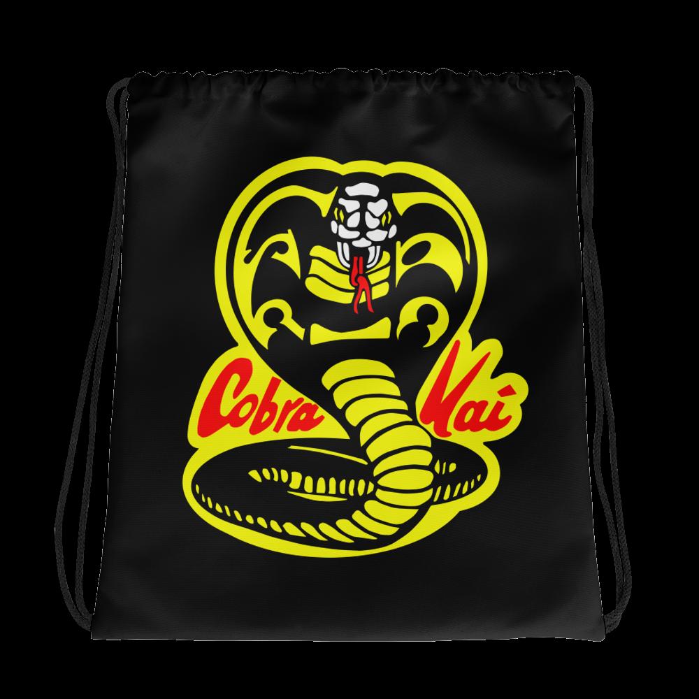 COBRA KAI Dojo Logo Drawstring bag from the Cobra Kai Netflix Youtube Series and Karate Kid Movies - New Vintage Retro Novelty Gift
