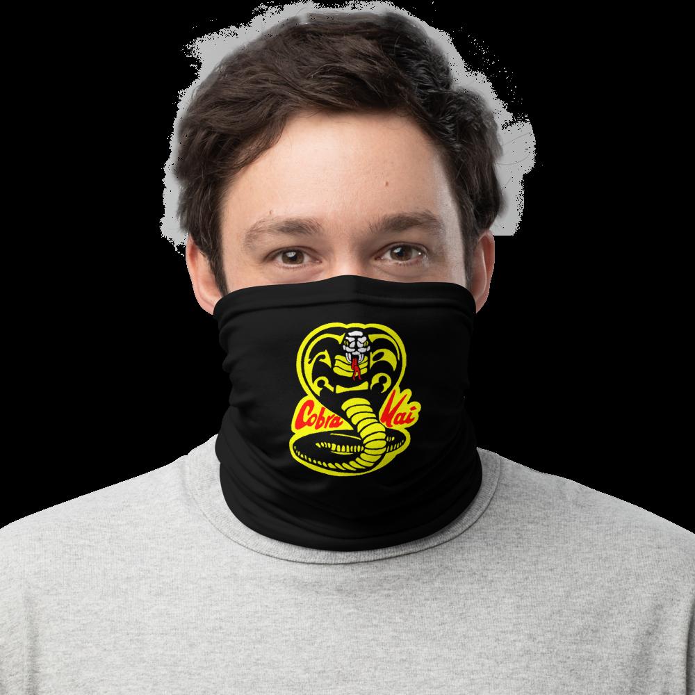 COBRA KAI Dojo Logo Men's Women's Neck Gaiter Face Shield Mask from the Cobra Kai Netflix Youtube Series and Karate Kid Movies - New Vintage Retro Novelty Gift
