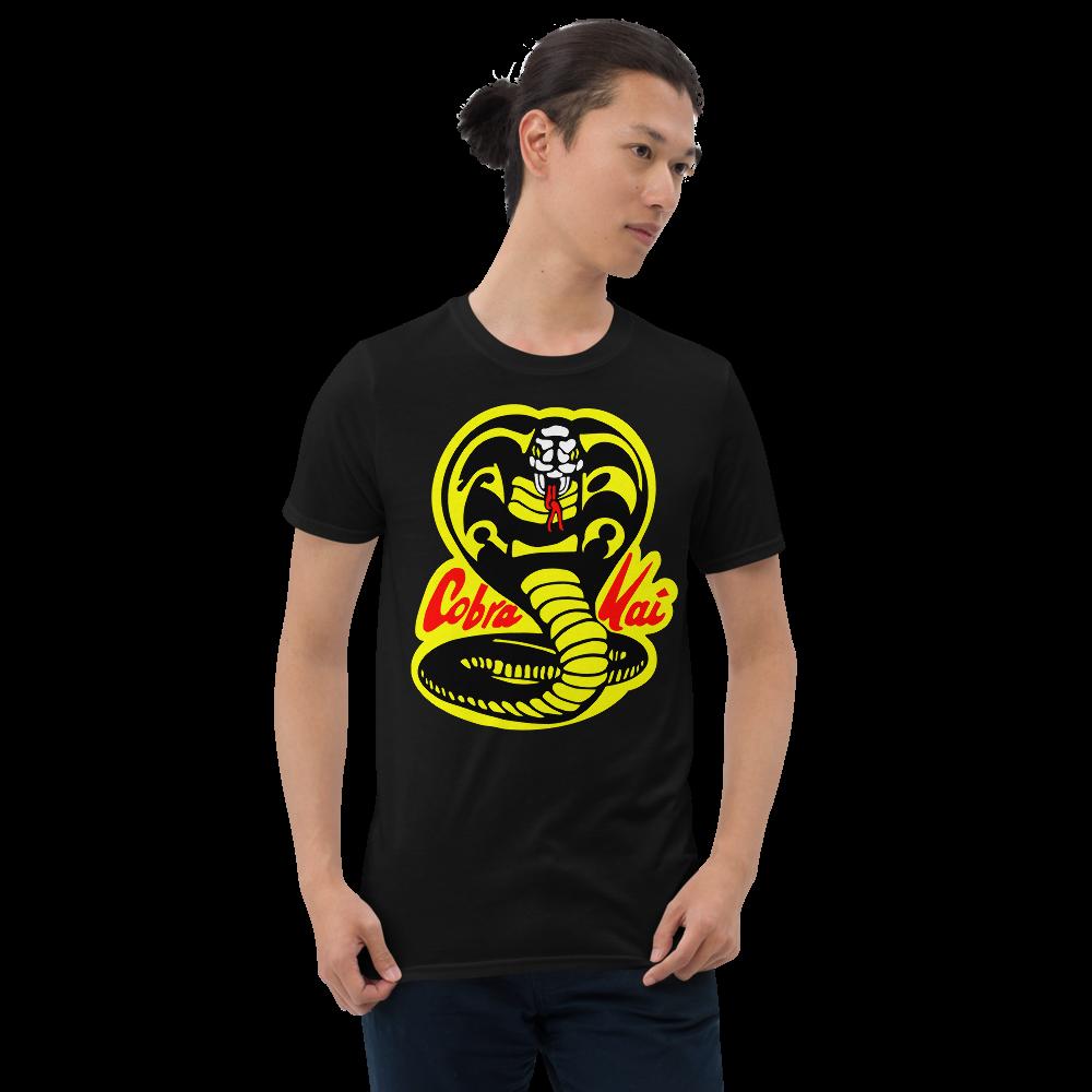 COBRA KAI Dojo Logo Short-Sleeve Men's Unisex T-Shirt from the Cobra Kai Netflix Youtube Series and Karate Kid Movies - New Vintage Retro Novelty Gift