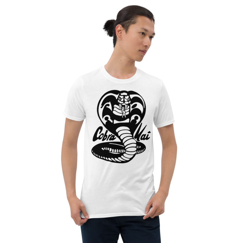 COBRA KAI Dojo Black Logo Short-Sleeve Men's Unisex T-Shirt from the Cobra Kai Netflix Youtube Series and Karate Kid Movies - New Vintage Retro Novelty Gift