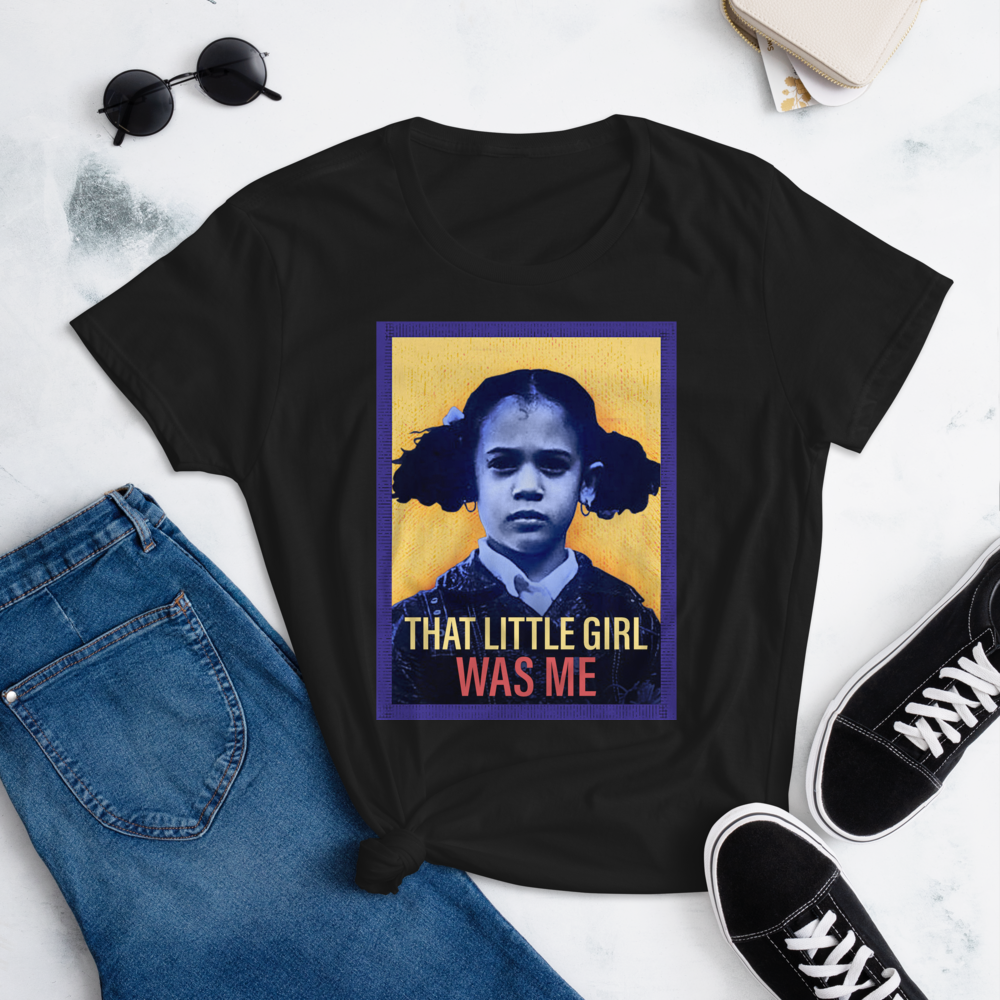 KAMALA HARRIS THAT LITTLE GIRL WAS ME Women's Ladies' Short Sleeve Tee T-shirt