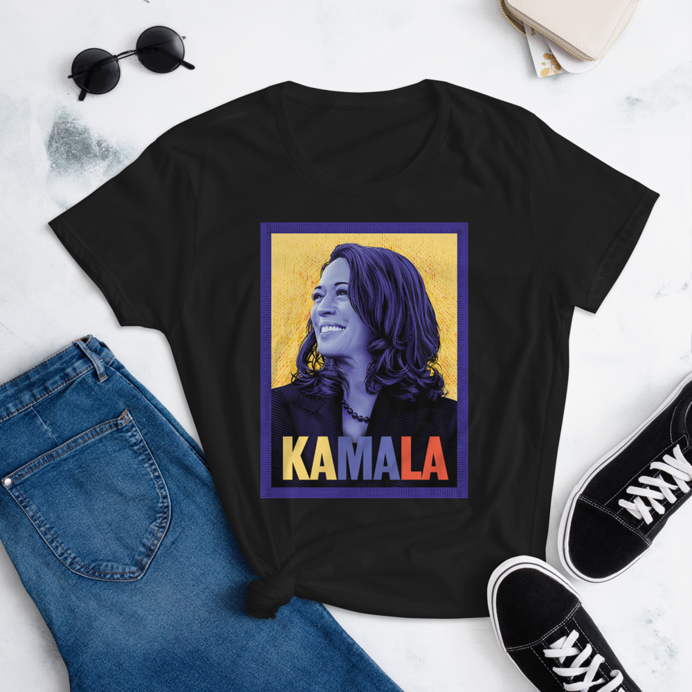 KAMALA HARRIS POSTER Women's Ladies' Short Sleeve Tee T-shirt