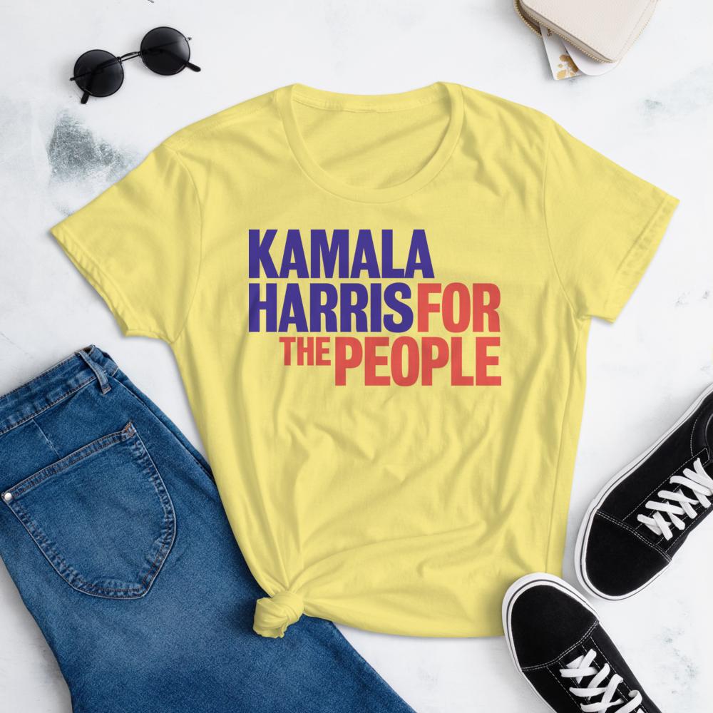 KAMALA HARRIS FOR THE PEOPLE Women's Ladies' Short Sleeve Tee T-shirt