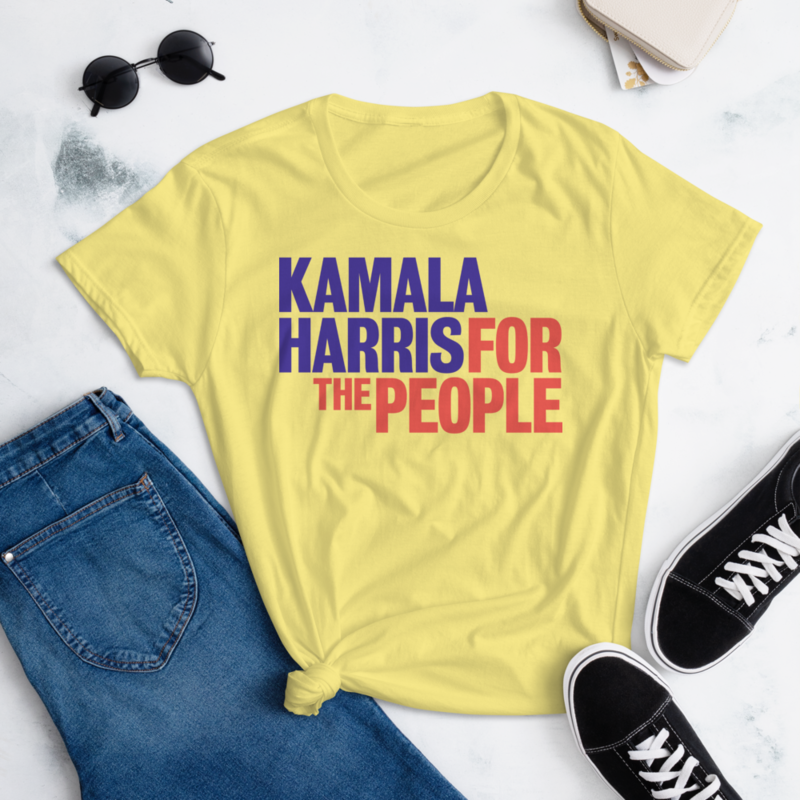 KAMALA HARRIS FOR THE PEOPLE Women's Ladies' Short Sleeve Tee T-shirt