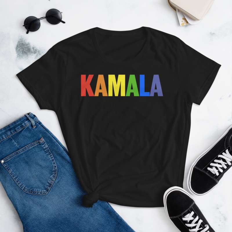 PRIDE KAMALA HARRIS FOR THE PEOPLE Women's Ladies' Short Sleeve Tee T-shirt