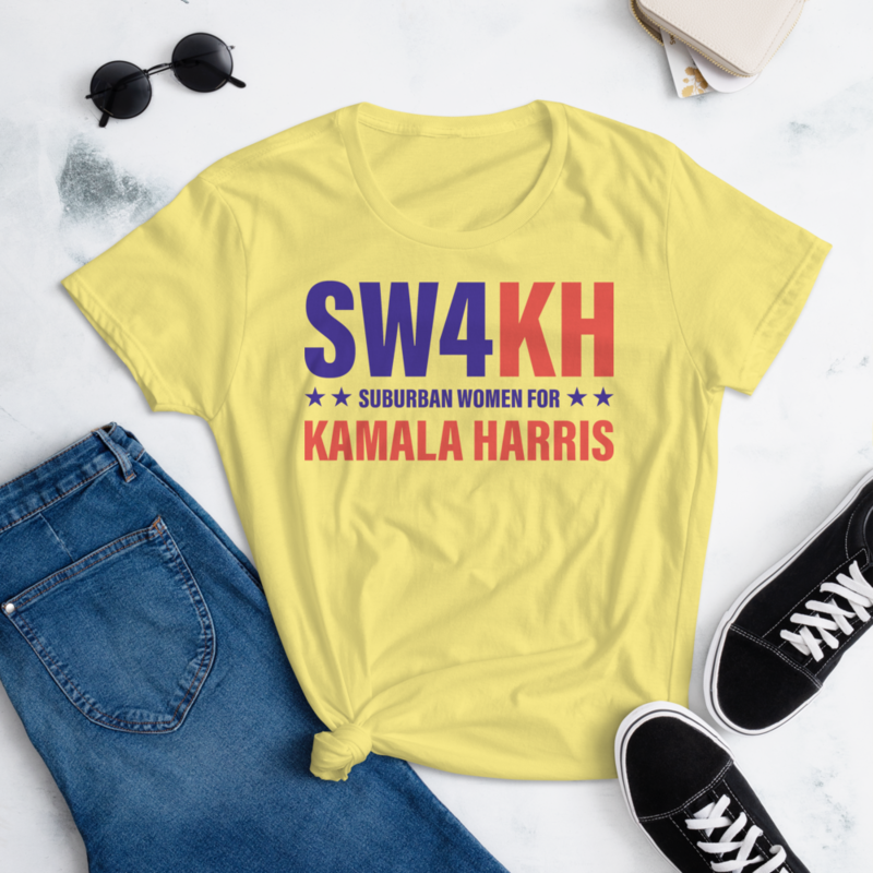 SW$KH KAMALA HARRIS FOR THE PEOPLE Women's Ladies' Short Sleeve Tee T-shirt