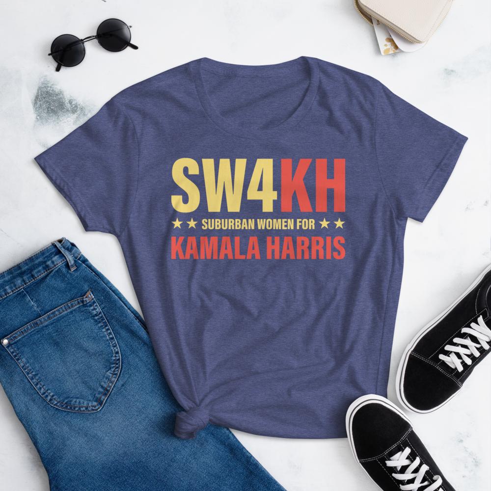 SW$KH KAMALA HARRIS FOR THE PEOPLE Women's Ladies' Short Sleeve Tee T-shirt