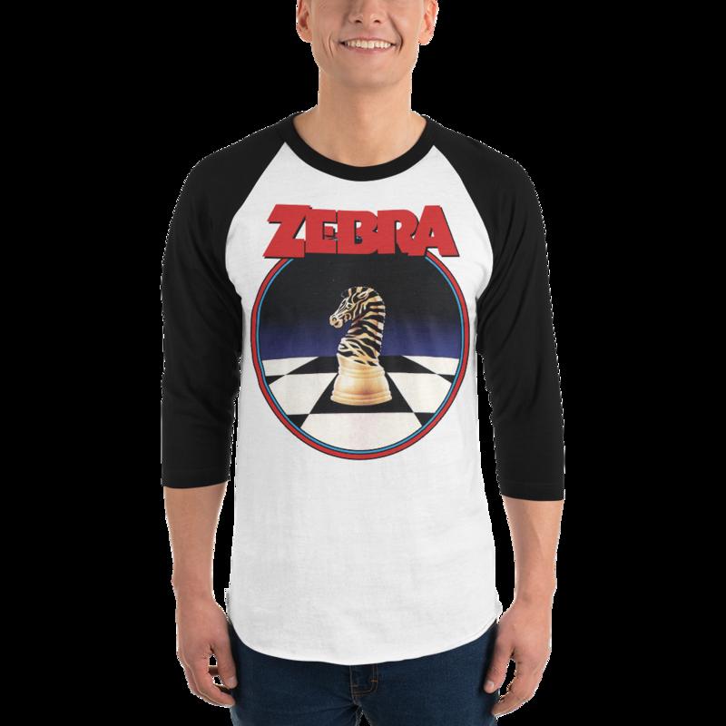 ZEBRA COBRA KAI Dojo Logo Men's 3/4 Sleeve Raglan shirt  from the Cobra Kai Netflix Youtube Series and Karate Kid Movies - New Vintage Retro Novelty Gift