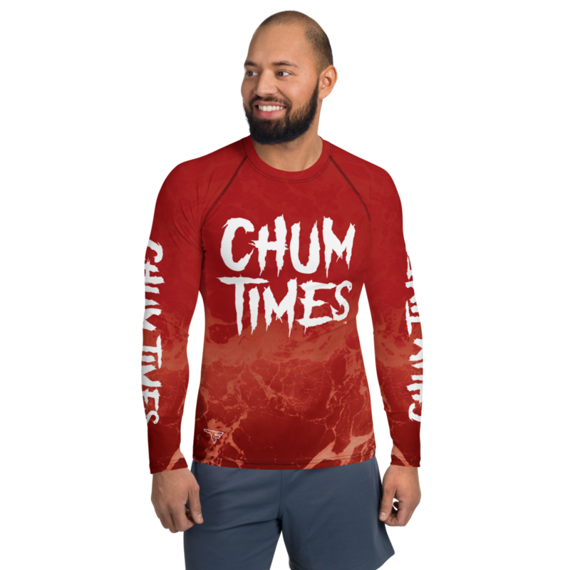 CHUM TIMES Men's Rash Guard Long Sleeve Fishing Surfing Shirt