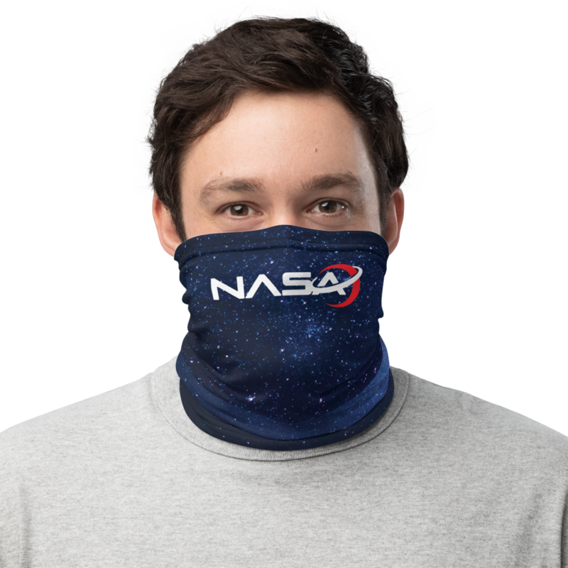 NASA LOGO from the Away Mars Space Series on Netflix Face Shield Neck Gaiter Mask