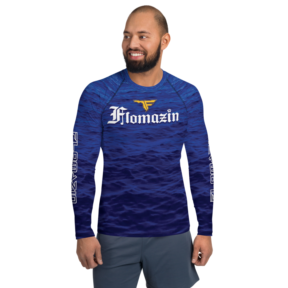 FLOMAZIN FLORONA Men's Long Sleeve Rash Guard Shirt