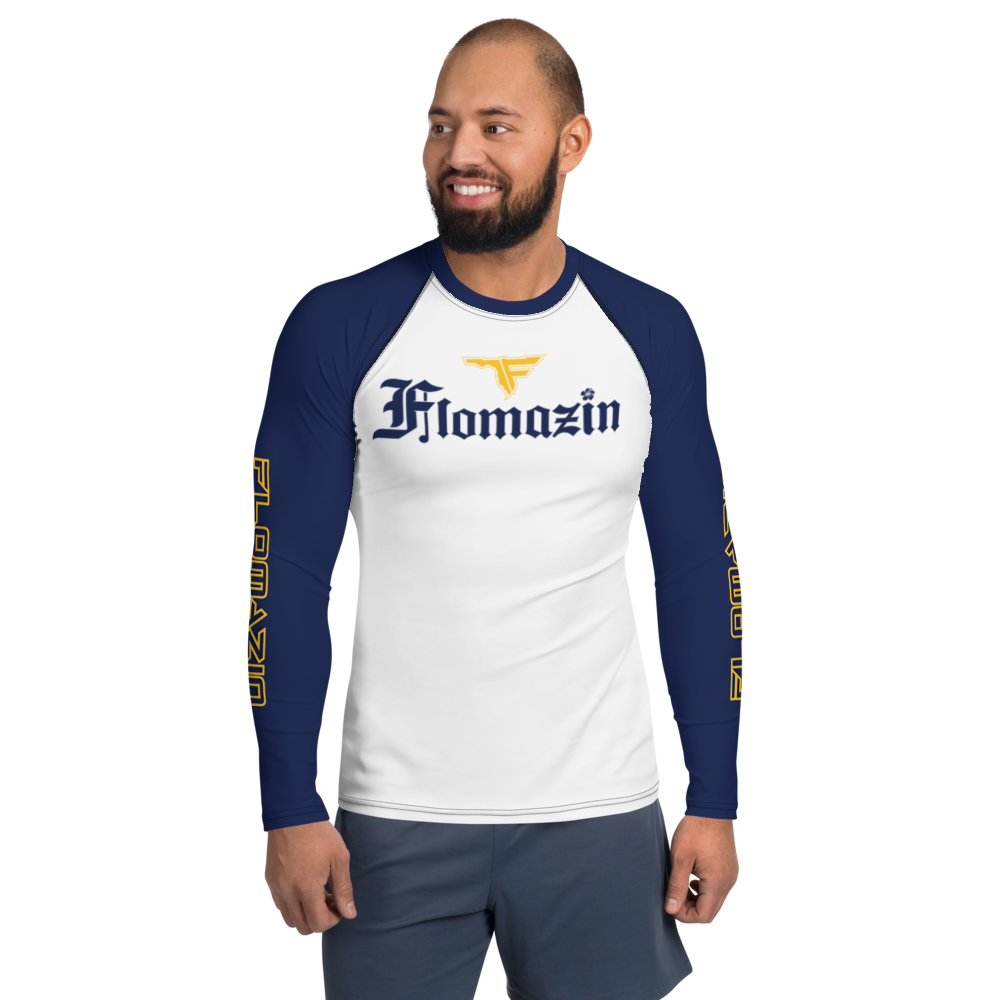 FLOMAZIN FLORONA Men's Long Sleeve Rash Guard Shirt