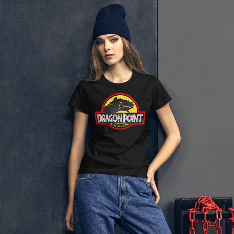 FLOMAZIN FLORASSIC DRAGON POINT 3D Women's short sleeve t-shirt