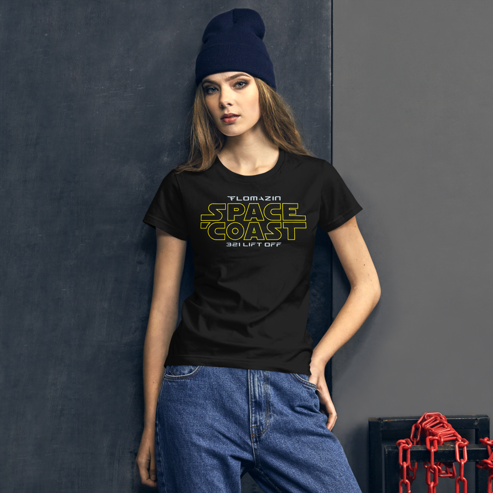 FLOMAZN SPACE COAST WARS Women's short sleeve t-shirt