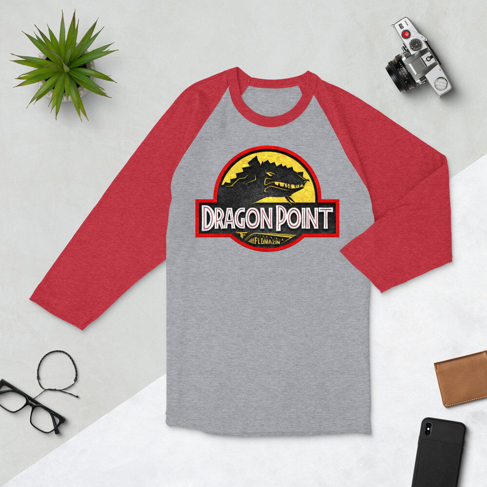 FLOMAZIN FLORASSIC DRAGON POINT 3D 3/4 sleeve raglan shirt