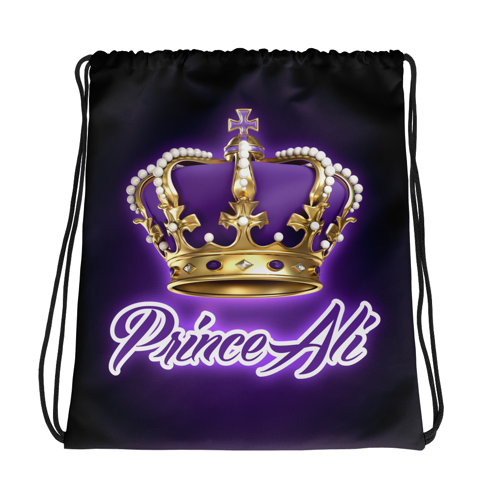PRINCE ALI DRIP AND CROWN Drawstring bag