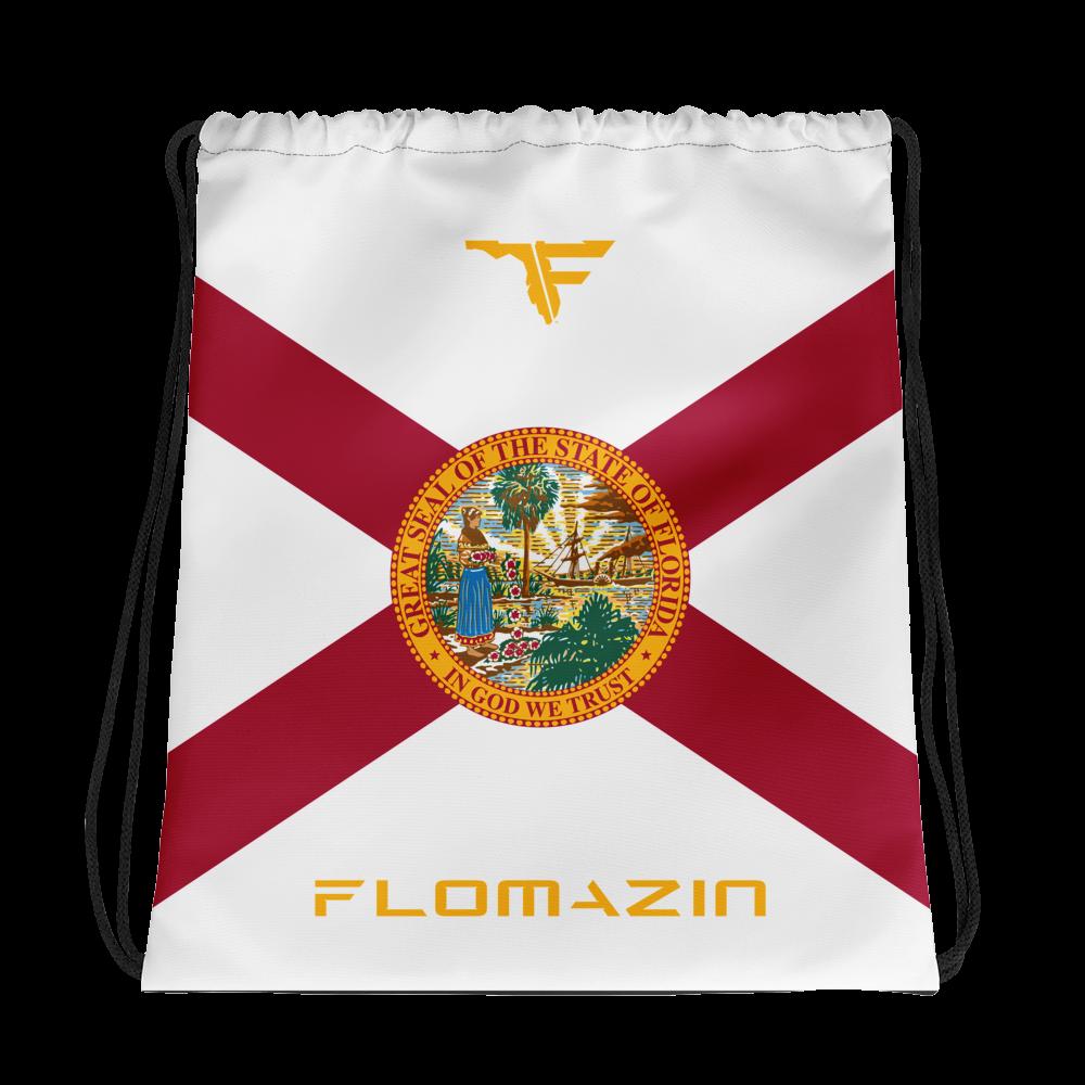 FLOMAZIN INTERSTATE OF MIND FLORIDA FLAG Drawstring bag