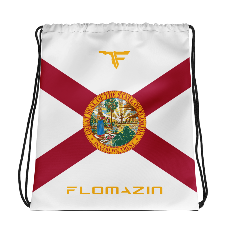 FLOMAZIN INTERSTATE OF MIND FLORIDA FLAG Drawstring bag