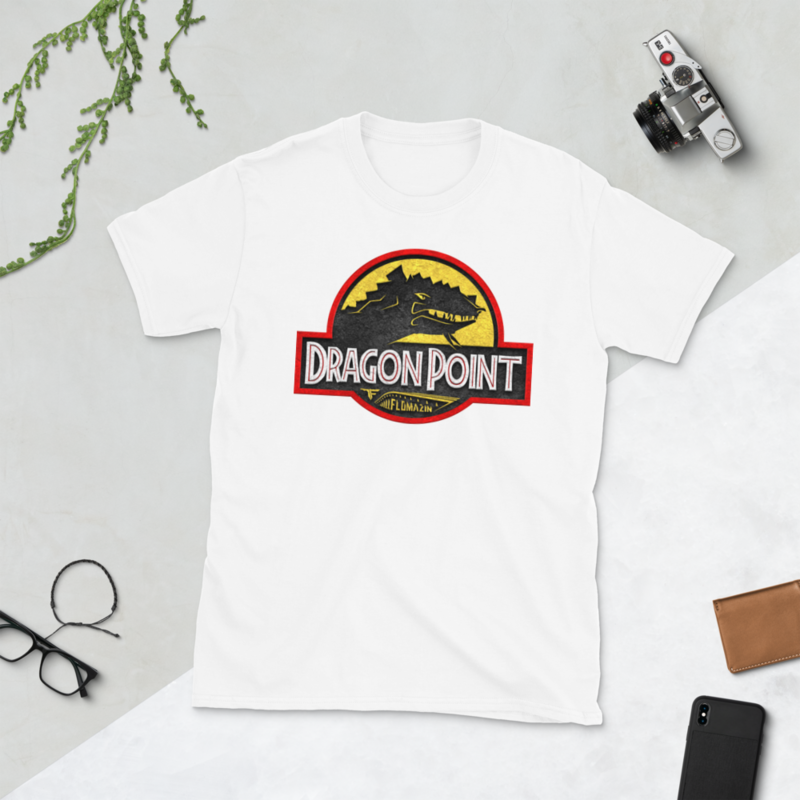 FLOAMZIN JURASSIC DRAGON POINT Short-Sleeve Unisex T-Shirt