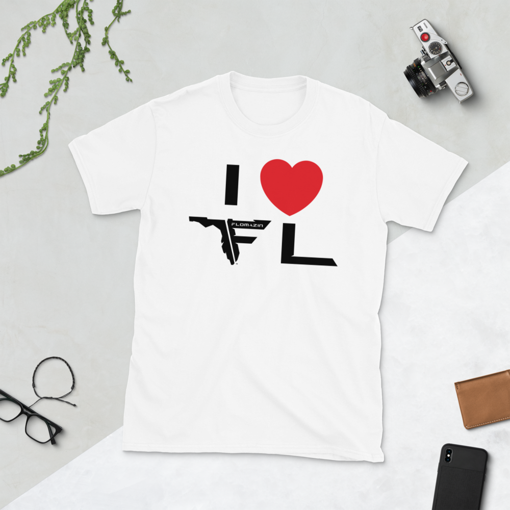 FLOMAZIN I LOVE FLORIDA Short-Sleeve Unisex T-Shirt