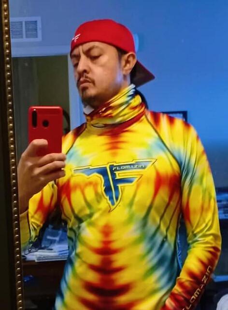 FLOMAZIN CHUM TIMES - FLORIDYE Men's Fitted Rash Guard Long Sleeve UPF Fishing Surfing Shirt