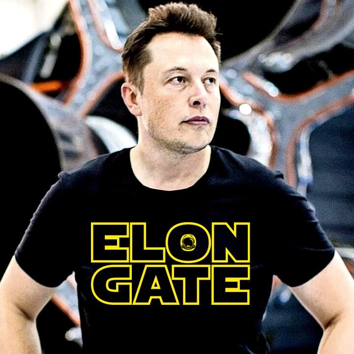 ELON GATE Premium Black Heather Short-Sleeve Unisex Men's T-Shirt