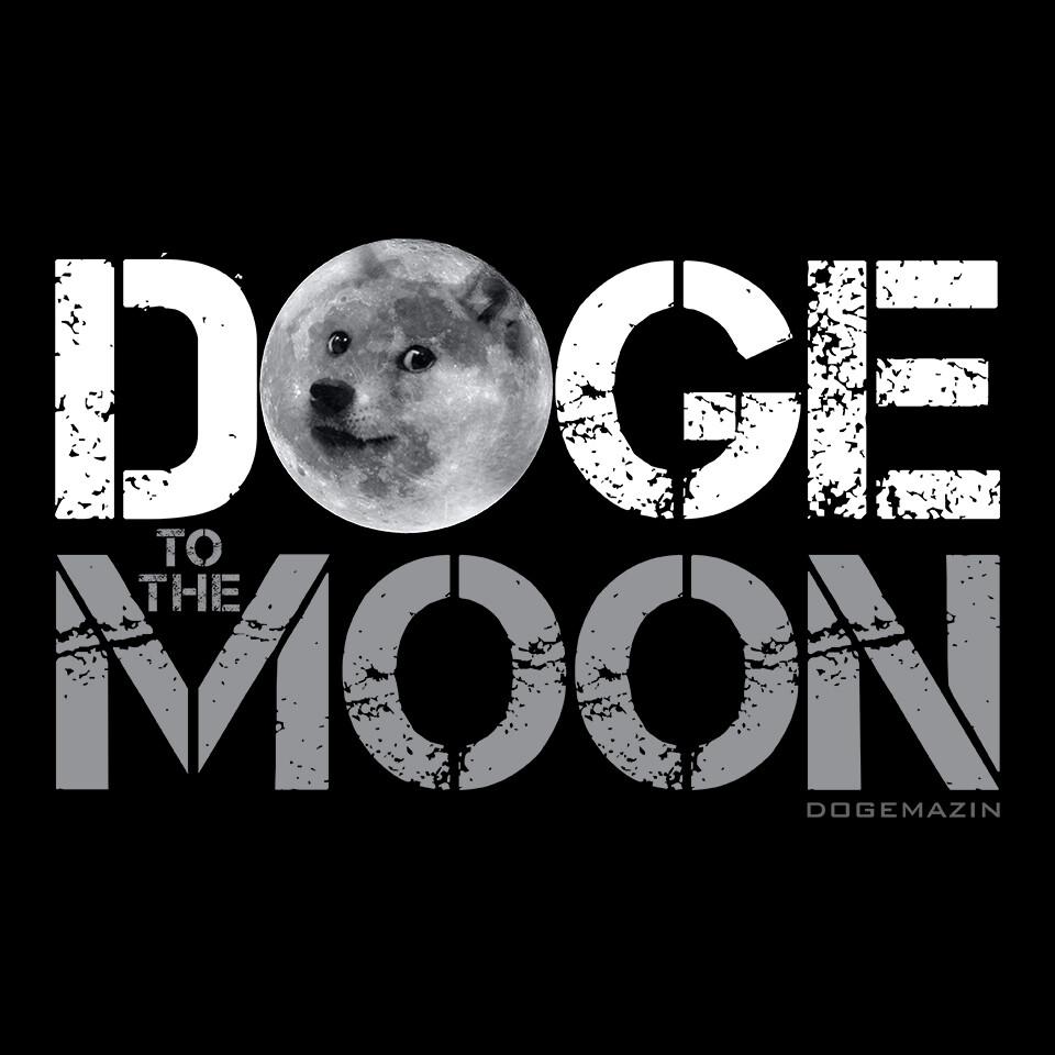 DOGE TO THE MOON DOGECOIN ELON MUSK SPACEX DOGEMAZIN Short-Sleeve Unisex T-Shirt