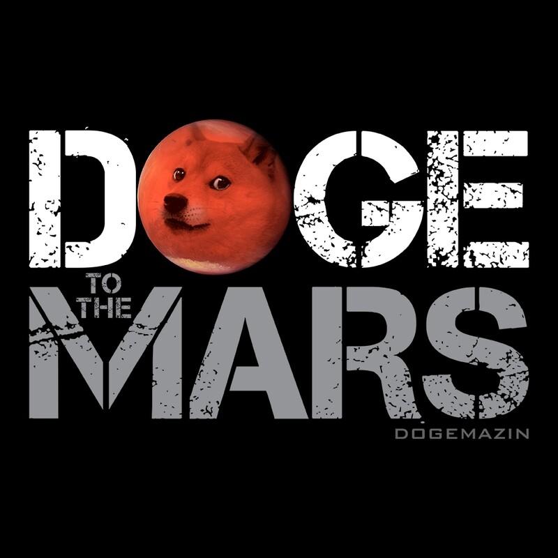 DOGE TO THE MARS DOGECOIN ELON MUSK SPACEX DOGEMAZIN Short-Sleeve Unisex Men's T-Shirt