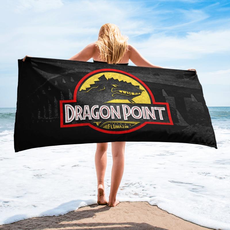 FLOMAZIN FLORASSIC DRAGON POINT 3D Beach Towel
