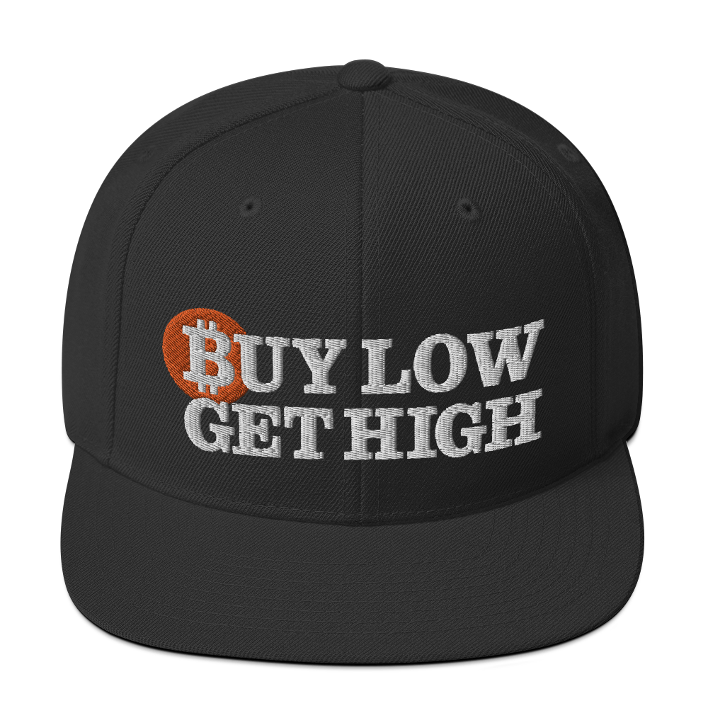BUY LOW GET HIGH CRYPTO BITCOIN DOGE ETHEREUM CARDANO Snapback Hat
