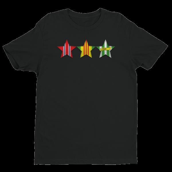 VIETNAM VETERAN 3 STARS Short Sleeve T-shirt