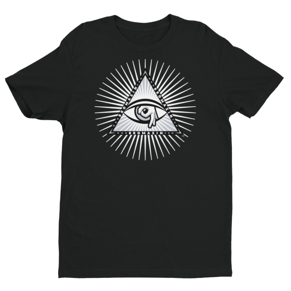 BROMAZIN BROLUMINATI PYRAMID White Rays Short Sleeve T-shirt - Multiple Colors