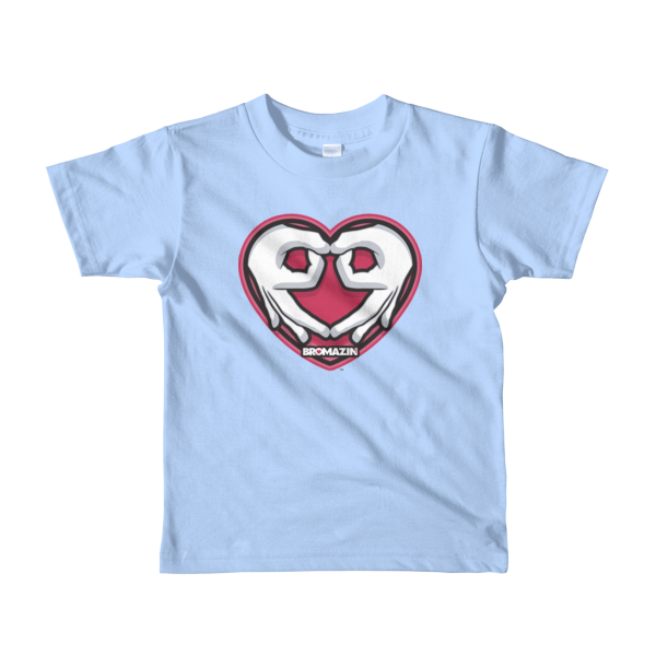 BROMAZIN VALENTINE HEART HANDS Short sleeve kids t-shirt - Multiple Colors