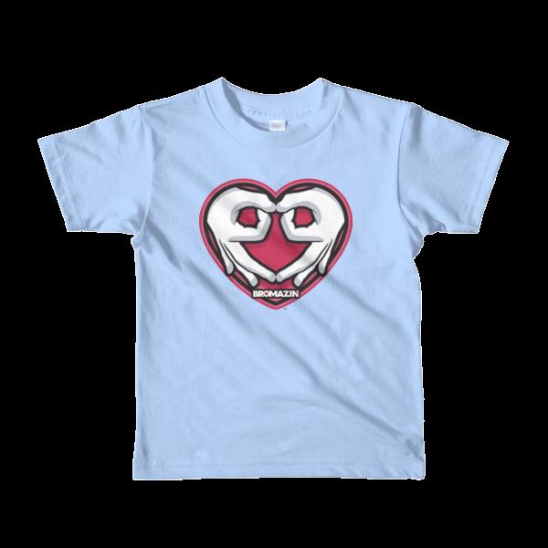 BROMAZIN VALENTINE HEART HANDS Short sleeve kids t-shirt - Multiple Colors