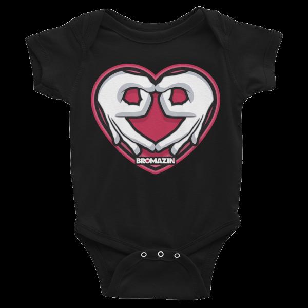 BROMAZIN VALENTINE HEART HANDS Infant Bodysuit - Multiple Colors