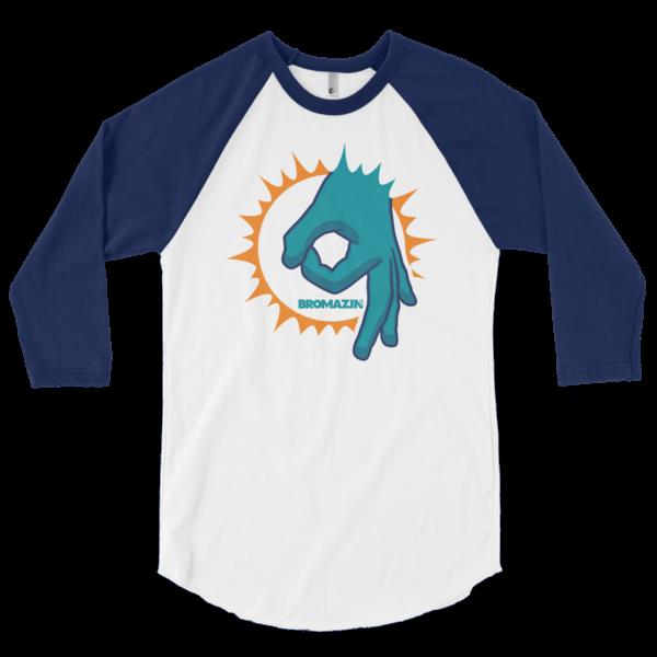 BROMAZIN BROLPHINS 3/4 sleeve raglan shirt - Multiple Colors