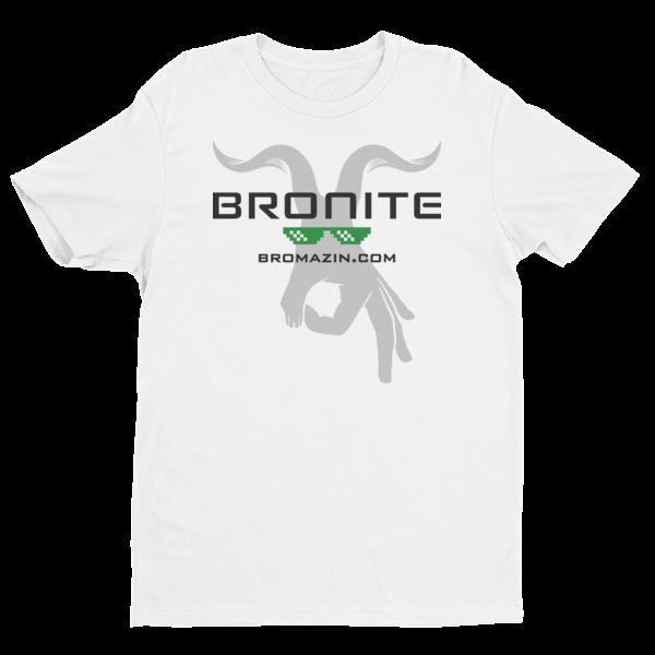 BROMAZIN BRONITE White Short Sleeve T-shirt