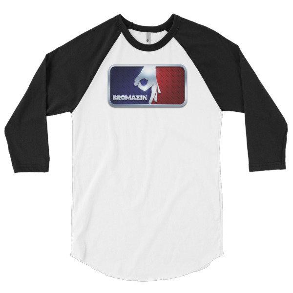 MAJOR LEAGUE BROMAZIN 3D BROTALLIC 3/4 sleeve raglan shirt - Multiple Colors