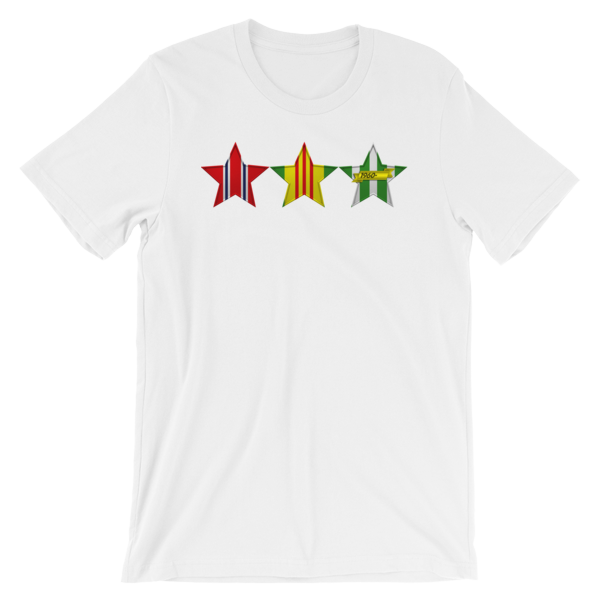 VIETNAM VETERAN 3 STARS Short-Sleeve Unisex T-Shirt - Multiple Colors