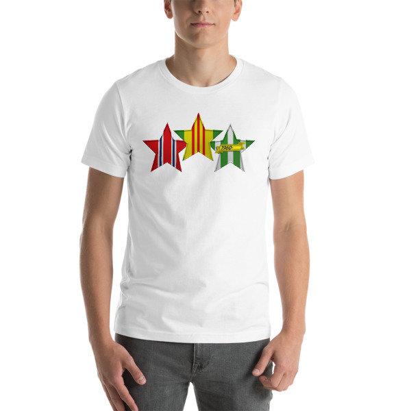 VIETNAM VETERAN 3 STAR Short-Sleeve Unisex T-Shirt - Multiple Colors